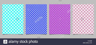polka dot stationery retro polka dot card background template set vector stationery