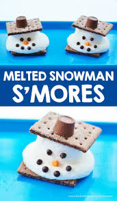 melted snowman s u0027mores with christmas party ideas for kids