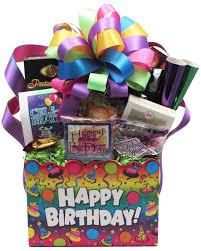 happy birthday gift baskets happy birthday rainbow basket