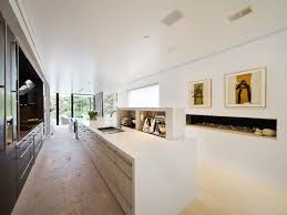 Large Galley Kitchen Ceiling To Floor Windows Galley Kitchen Open Large Indoor
