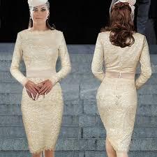 white lace dress with sleeves knee length sleeve knee length lace dresses ivo hoogveld