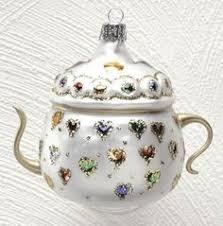 teacup tea cup ornaments glass