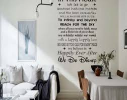 Disney Wall Decal Etsy - Disney wall decals for kids rooms