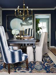 dining room table accessories blue and gold accents such as a blue area rug blue and white