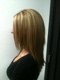 long brown hairstyles with parshall highlight partial blonde highlight with light brown all over color and long