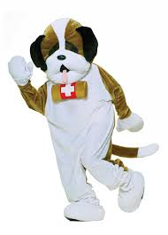 Dog Ghost Halloween Costumes by Amazon Com Forum Deluxe Plush Dog Mascot St Bernard Costume