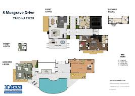 3 story real estate floor plan