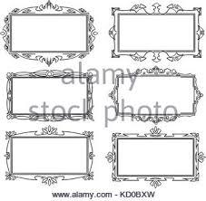 set of various artistic ornamental frame designs stock vector