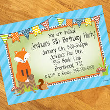 fox personalized invitations