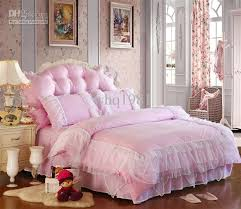 luxury pink lace bedspread princess bedding sets queen king size