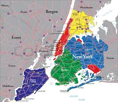 detailed map of new york highly detailed vector map of new york city with the five boroughs