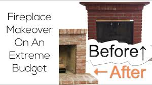 diy fireplace makeover on an extreme budget before u0026 after youtube