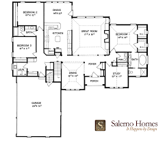 Split Floor Plan Floor Plans Of Custom Build Homes From Salerno Homes Llc