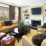 Living Room Set Up Nature Themed Decorative Accents In A Modern - Decorative living room