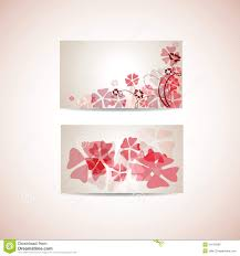floral business card template stock vector image 24176995