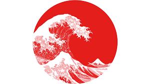 hokusai japan flag t shirt by nxolab design by humans