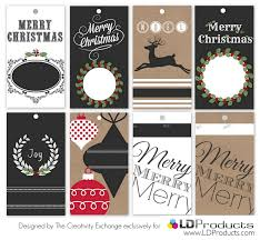 free printable holiday tags wrapping paper and sign