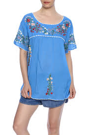 raj lotus embroidered mexican peasant top from downtown u2014 shoptiques