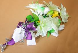 how to make wedding bouquet how to make a bridal bouquet with artificial flowers 8 steps
