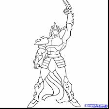 surprising shredder teenage mutant ninja turtles coloring pages