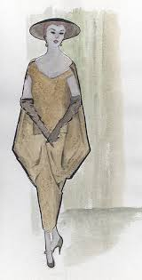 archive of drawings watercolors and pastels of women u0027s fashion