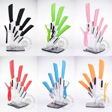 aliexpress com buy ceramic knife set peeler holder 3 4 5 6