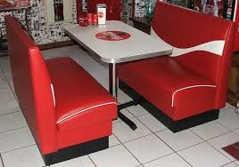 diner style booth table diner booth set consists of 2 coca cola wave logo booth benches