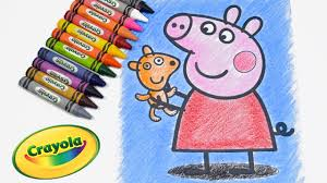 peppa pig coloring pages coloring book learn coloring peppa pig