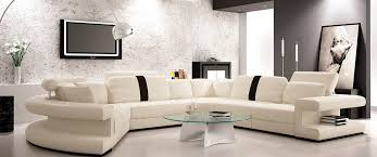 modern black and white leather sectional sofa the most amazing white leather sectional sofas intended for wish