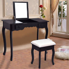 Black Mirrored Bedroom Furniture by Mirrored Dressing Table Ebay