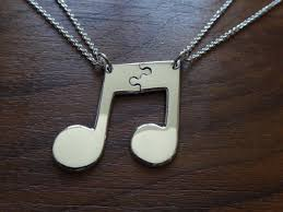 silver best friend necklace images Two best friend necklaces silver music note pendants jpg