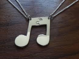 silver best friend necklace images Two best friend necklaces silver music note pendants jpg