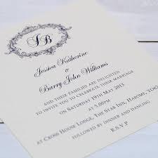 printed wedding invitations personalised wedding invitations rectangle potrait ivory black