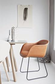 cosyandthegang muuto fiber chair cognac silk leather via for