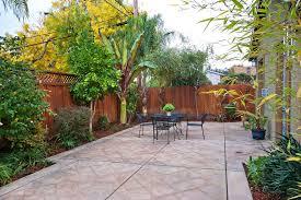 small concrete backyard ideas home design inspirations
