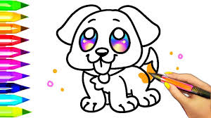 dog coloring pages for toddlers easy dog coloring pages for kids learning colors with puppy 8
