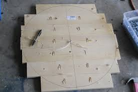 Woodworking Plans Projects 2012 05 Pdf by Ana White Benchright Round End Tables Diy Projects