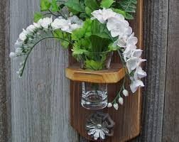 Hanging Glass Wall Vase Glass Wall Vase Etsy