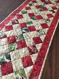 holiday table runner quilted table runner christmas table