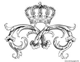 symbol royal crown by dl1on coloring pages printable