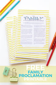 family proclamation free family proclamation printable corina s corner