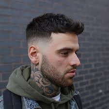 mens short hairstyles middle mid fade haircuts