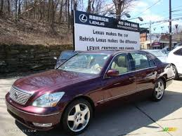 lexus sedan 2005 2005 black cherry pearl lexus ls 430 sedan 6837837 gtcarlot com