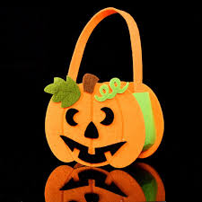 halloween candy gift basket children halloween pumpkin gift handbags kids halloween decorative