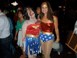 west hollywood halloween party zombie wonder woman ravages west hollywood u0027s halloween carnaval