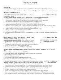 Mechanical Engineering Resume Examples Download Automotive Quality Engineer Sample Resume