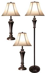 3 piece floor and table lamp set traditional lamp sets by