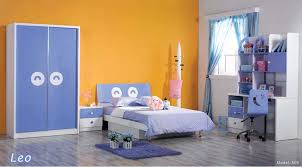 orange and blue combination bedroom colorful furniture with orange domination with high