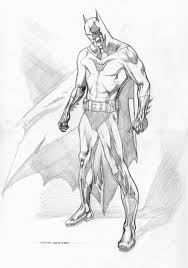 kevin nowlan batman pencil drawing