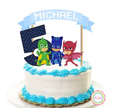 cake supplies pj masks birthday cake topper banner set 3 pieces party